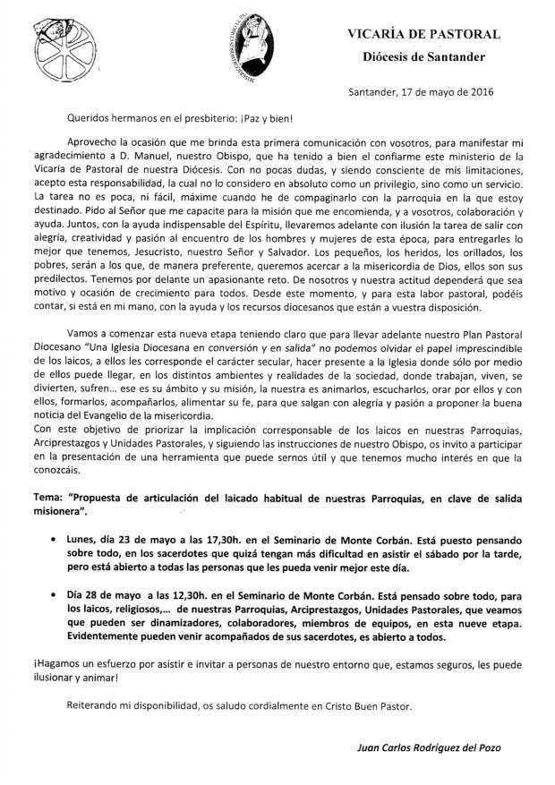 CONVOCATORIA CORBAN ARTICULACION DEL LAICADO-VICARIA PASTORAL-MAYO 2016-page-001