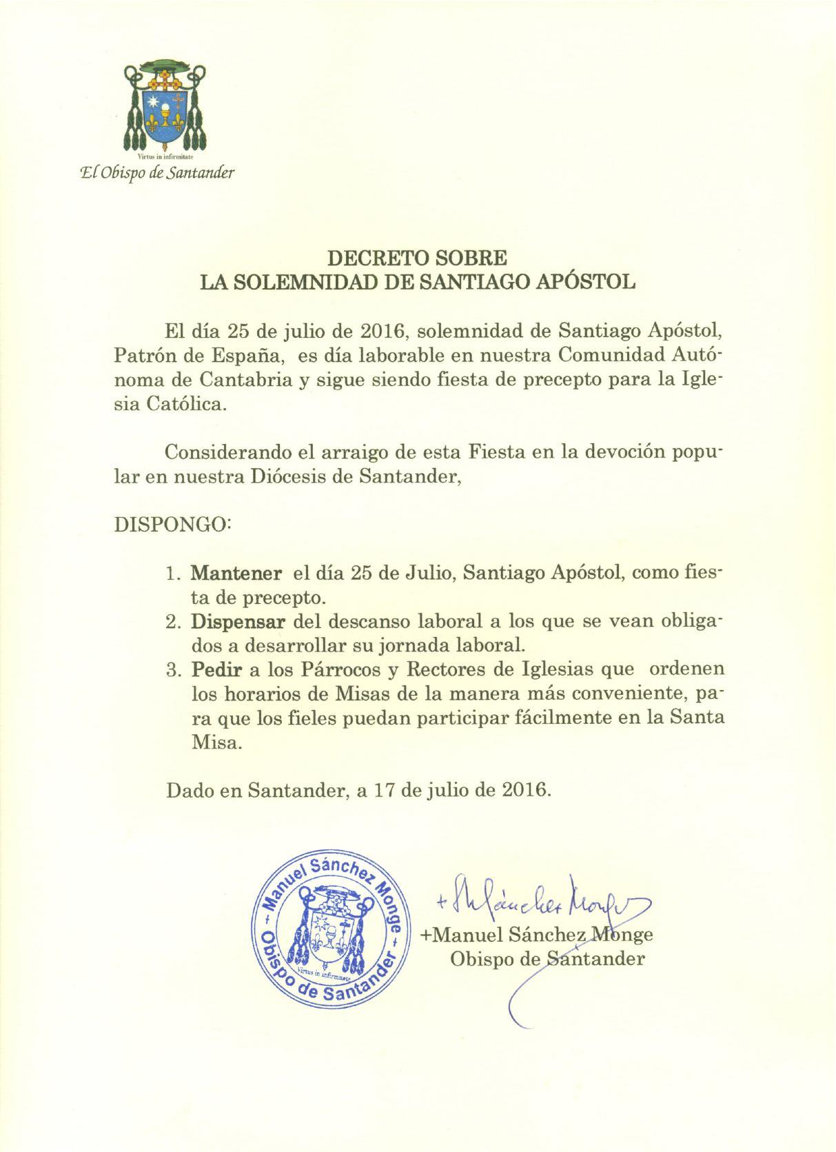 Decreto Santiago
